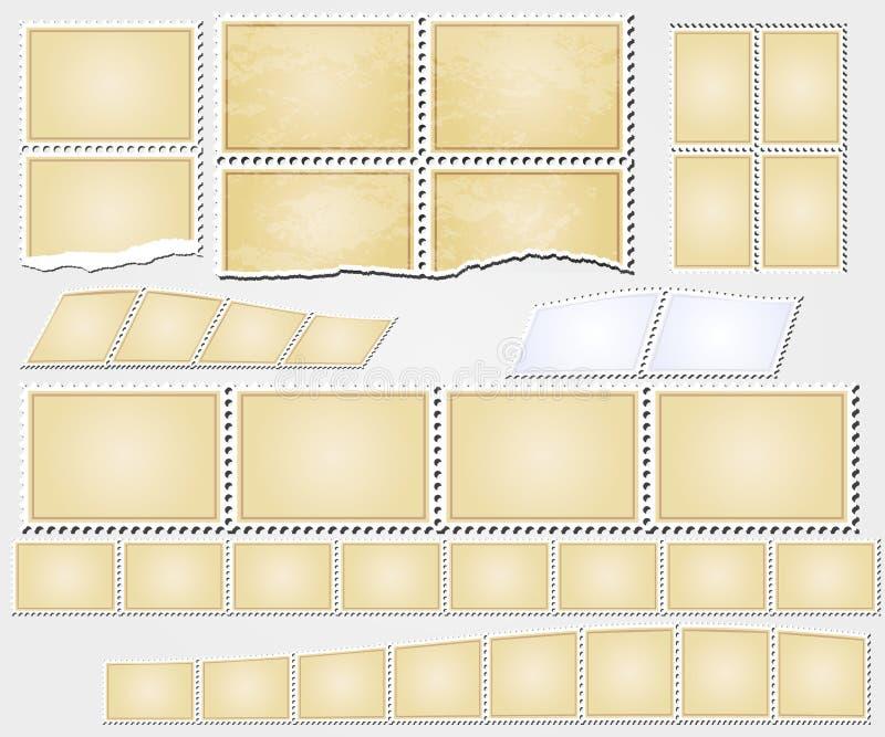 El grunge del vector sella el vintage de los marcos libre illustration