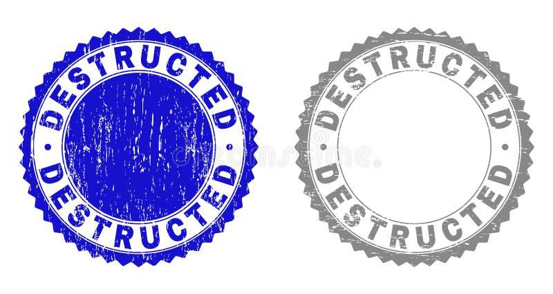 El Grunge DESTRUCTED sellos rasguñados libre illustration