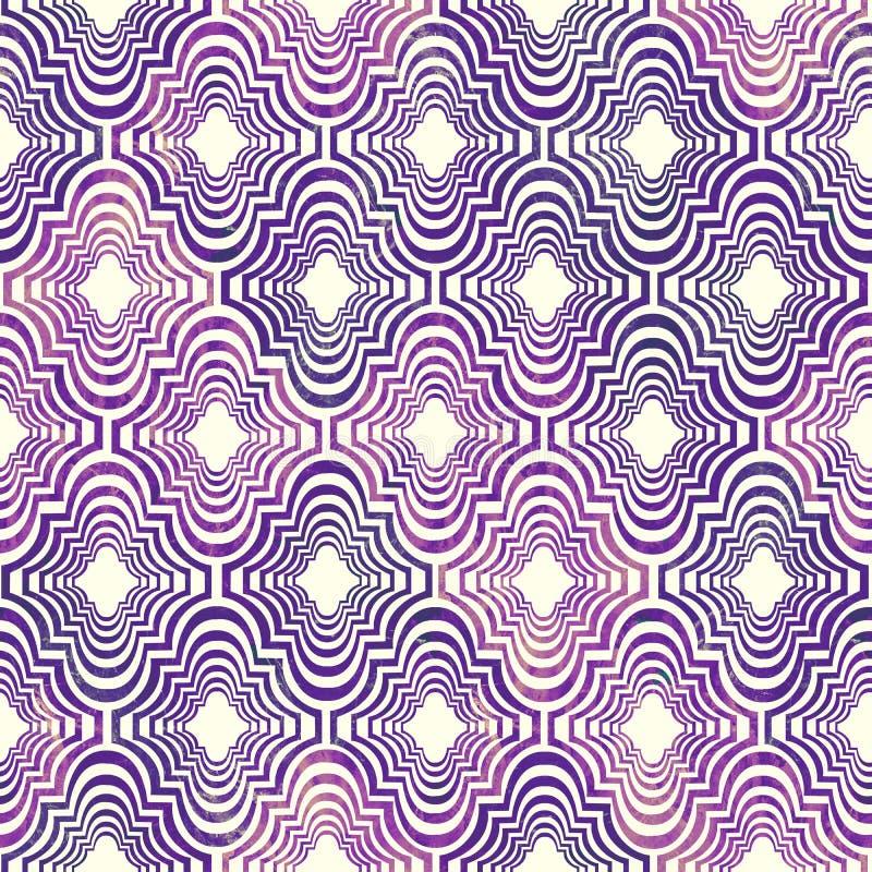 El grunge geométrico del este rizado brillante del extracto de la forma colorido salpica la textura, modelo inconsútil en rosado- libre illustration