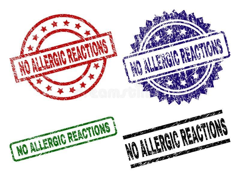 El Grunge no texturizó NINGÚN sello del sello de las REACCIONES ALÉRGICAS libre illustration