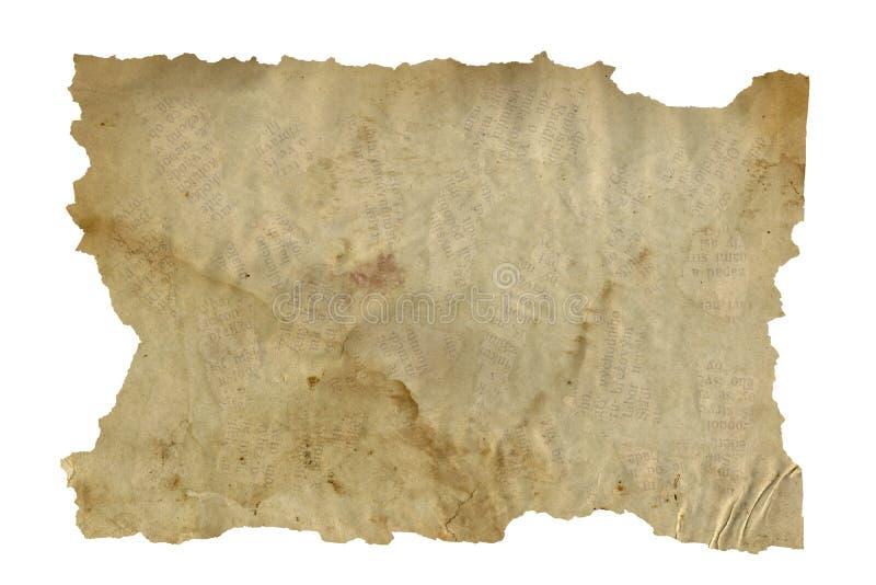 El grunge rasgado del papel de letra manchó textura aislada en fondo fotografía de archivo