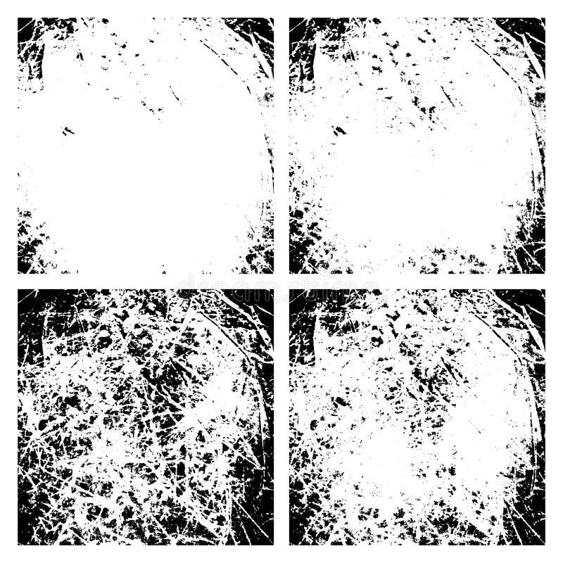 El Grunge rasguñado apenó texturas del fondo ilustración del vector