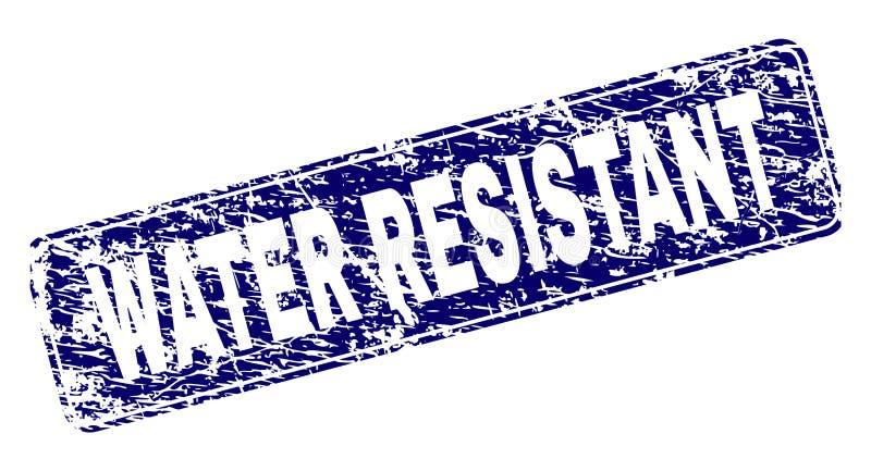 El Grunge RIEGA el sello redondeado enmarcado RESISTENTE del rectángulo ilustración del vector