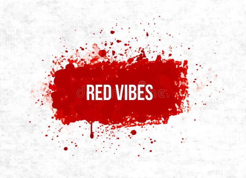 El grunge rojo brillante de la sangre salpica en fondo del papel de arroz libre illustration