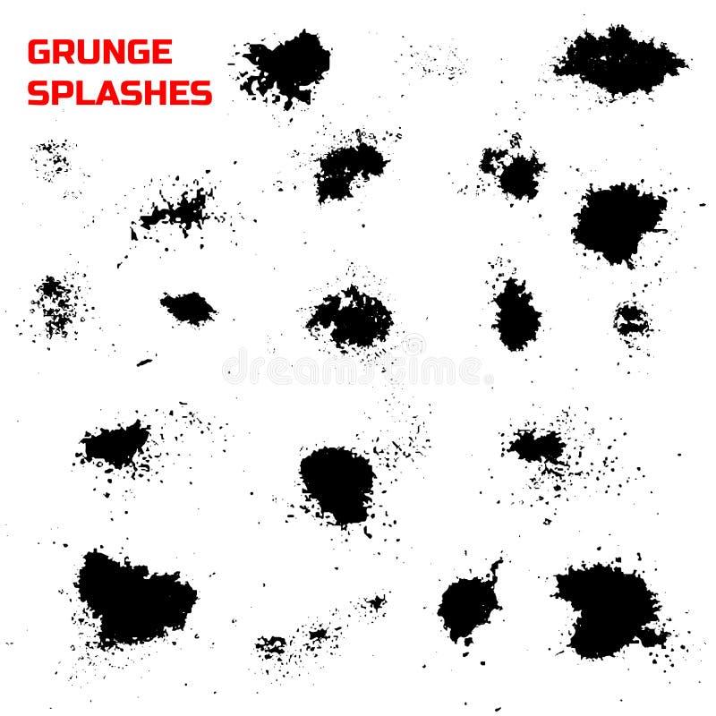 El Grunge salpica el sistema stock de ilustración