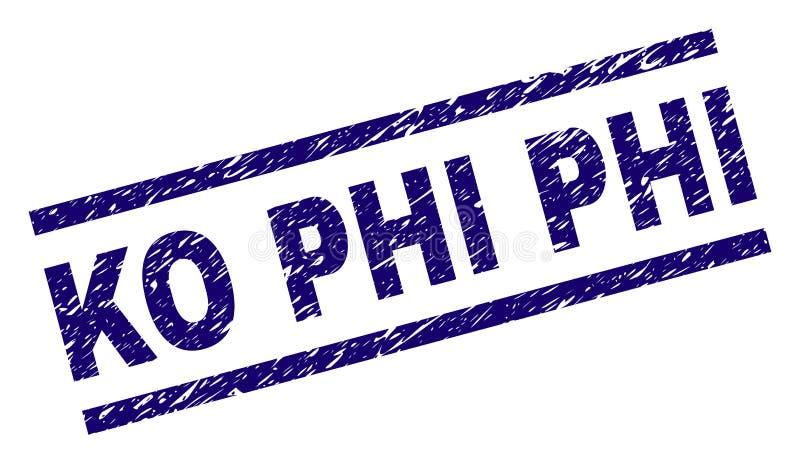 El Grunge texturizó el knock-out PHI Stamp Seal ilustración del vector