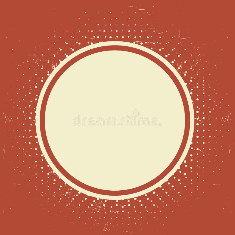 El Grunge texturizó la etiqueta del vintage ilustración del vector