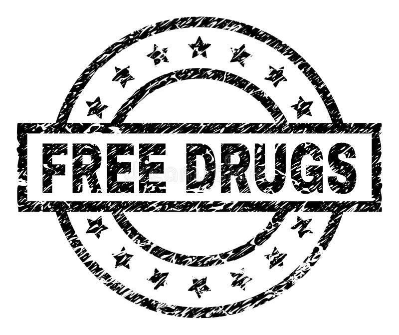 El Grunge texturizó los MEDICAMENTOS SIN RECETA sella el sello stock de ilustración