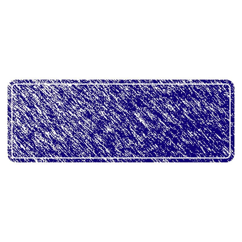El Grunge texturizó rectángulo redondeado llenado enmarcado ilustración del vector