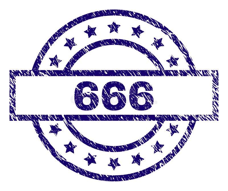 El Grunge texturizó el sello de 666 sellos ilustración del vector