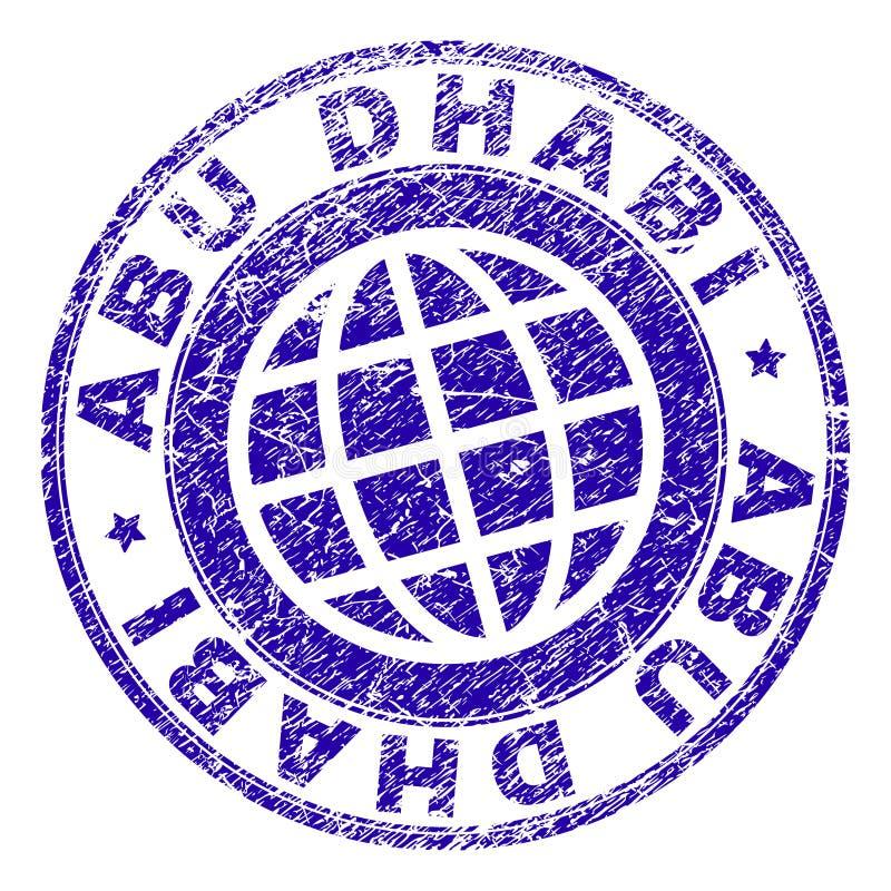 El Grunge texturizó el sello del sello de ABU DHABI ilustración del vector