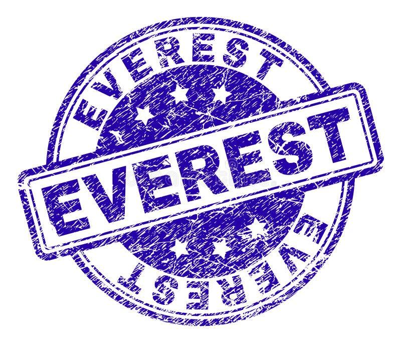El Grunge texturizó el sello del sello de EVEREST ilustración del vector