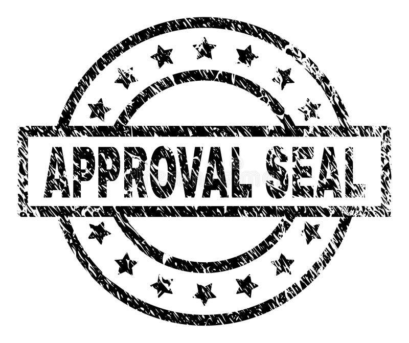 El Grunge texturizó el sello del sello del SELLO de la APROBACIÓN libre illustration