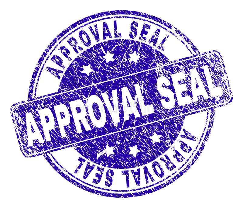 El Grunge texturizó el sello del sello del SELLO de la APROBACIÓN ilustración del vector