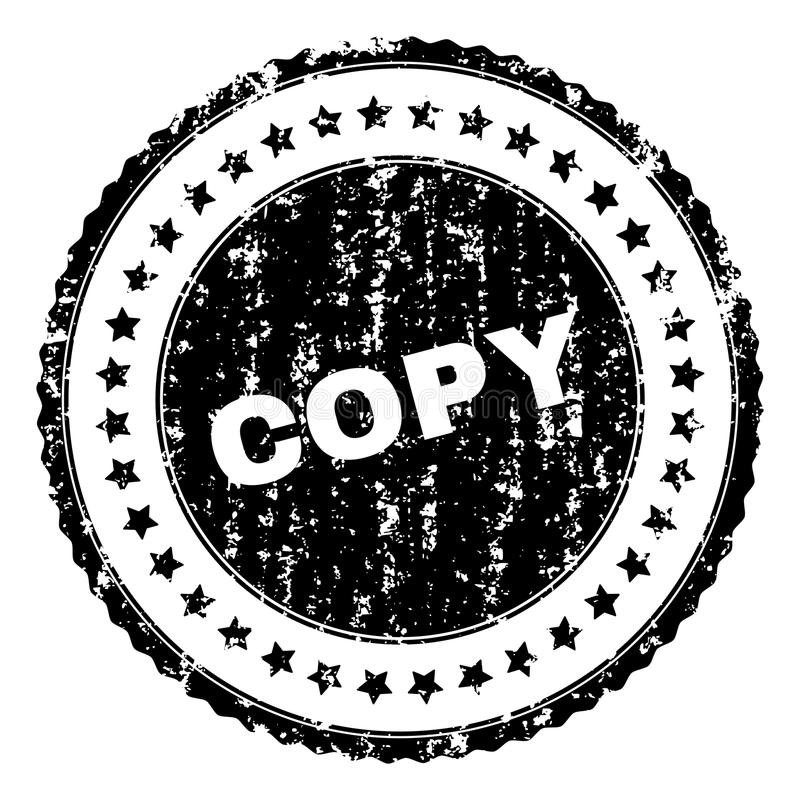 El Grunge texturizó el sello del sello de la COPIA stock de ilustración