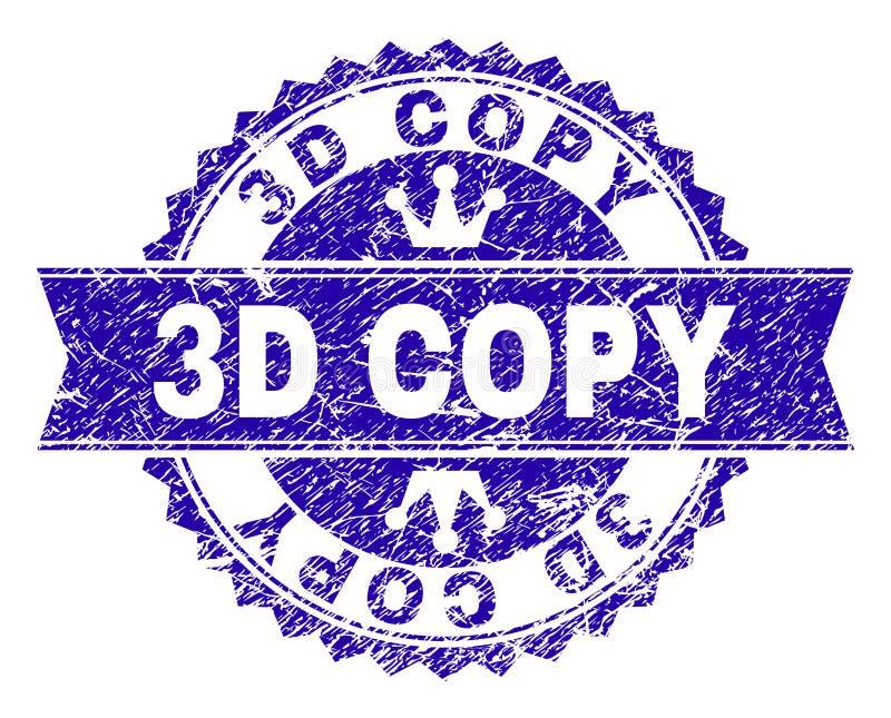 El Grunge texturizó el sello del sello de la COPIA 3D con la cinta libre illustration