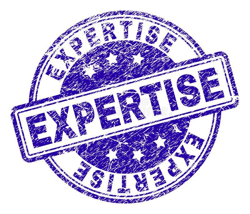 El Grunge texturizó el sello del sello de la EXPERIENCIA stock de ilustración