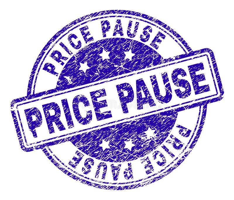 El Grunge texturizó el sello del sello de la PAUSA del PRECIO stock de ilustración
