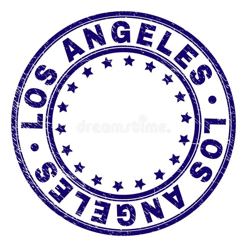 El Grunge texturizó el sello del sello de la ronda de LOS ANGELES ilustración del vector