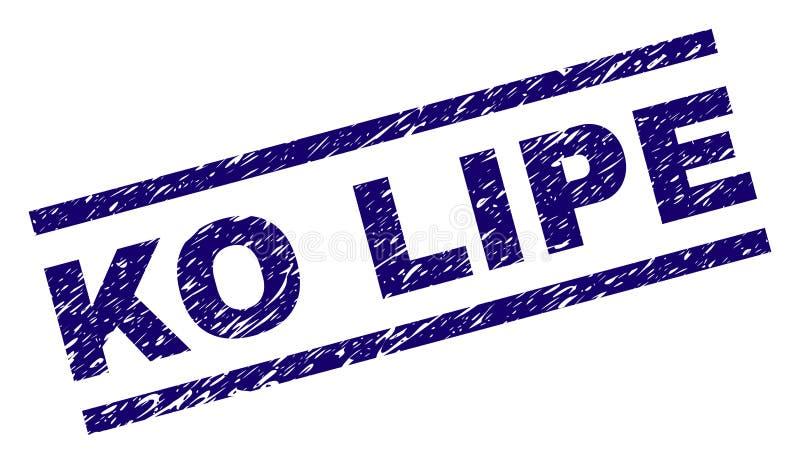 El Grunge texturizó el sello del sello del knock-out LIPE stock de ilustración