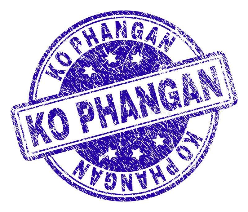 El Grunge texturizó el sello del sello del knock-out PHANGAN libre illustration