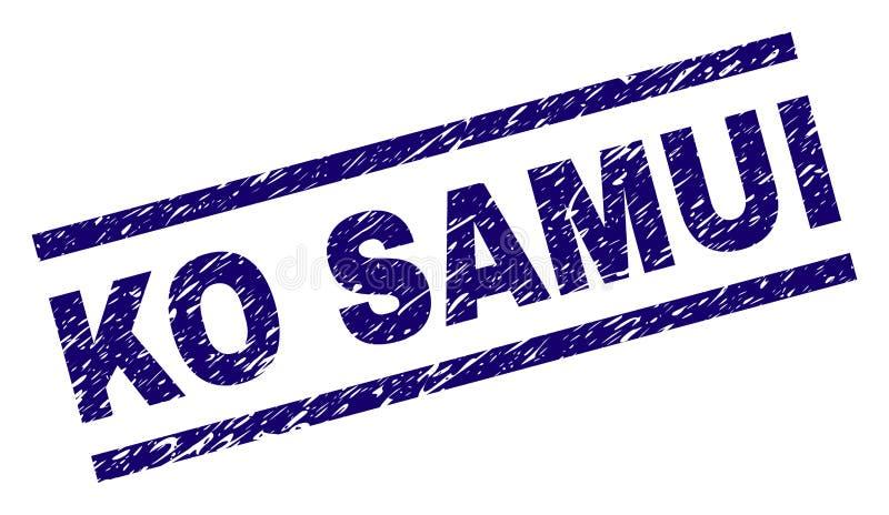 El Grunge texturizó el sello del sello del knock-out SAMUI stock de ilustración