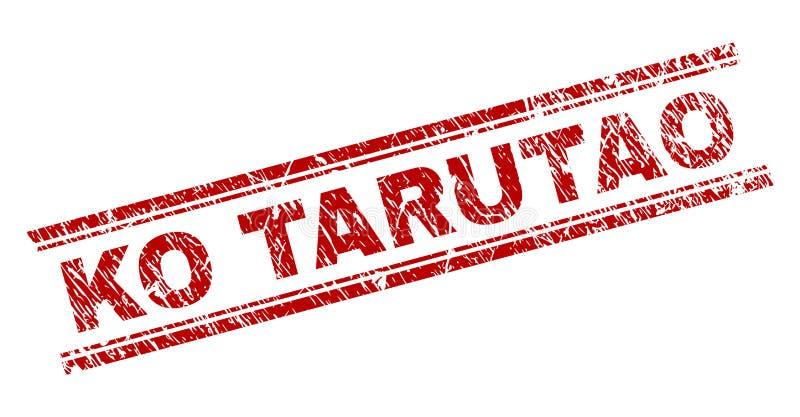 El Grunge texturizó el sello del sello del knock-out TARUTAO ilustración del vector