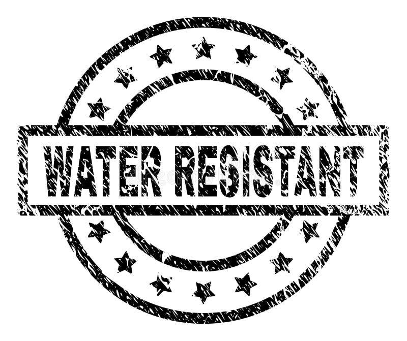 El Grunge texturizado RIEGA el sello RESISTENTE del sello ilustración del vector