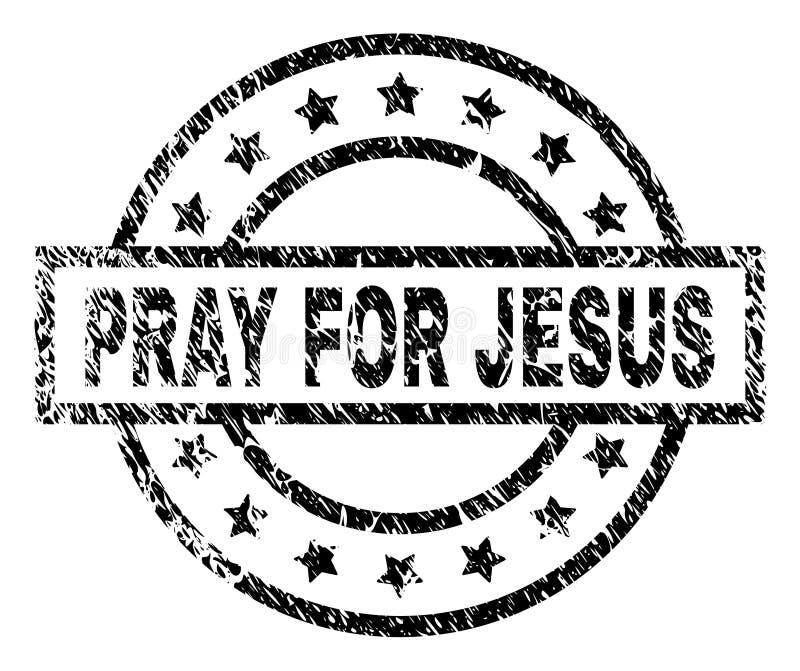 El Grunge texturizado RUEGA PARA JESUS Stamp Seal libre illustration