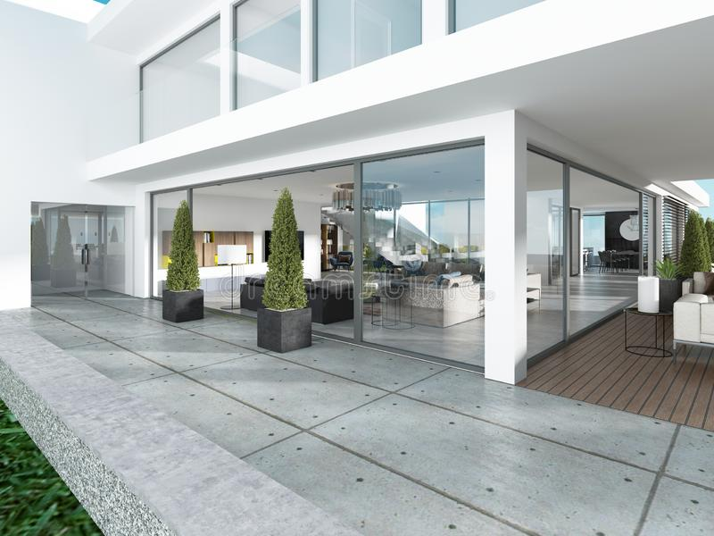 El grupo de la entrada de la casa moderna es estilo contemporáneo libre illustration