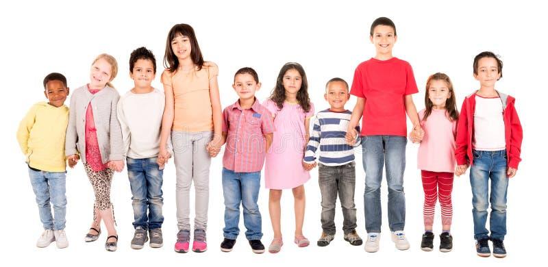 El grupo de los niños imágenes de archivo libres de regalías
