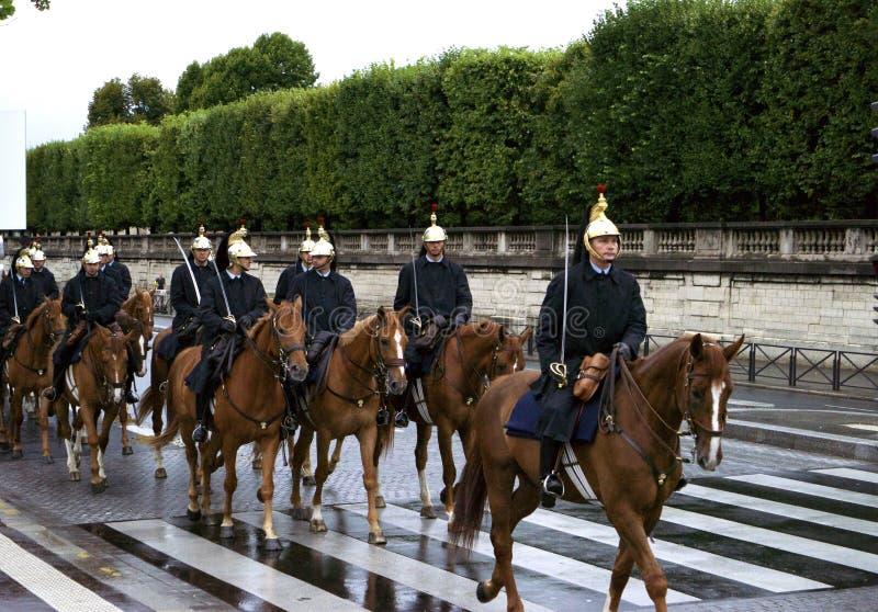 El guardia republicano francés fotos de archivo