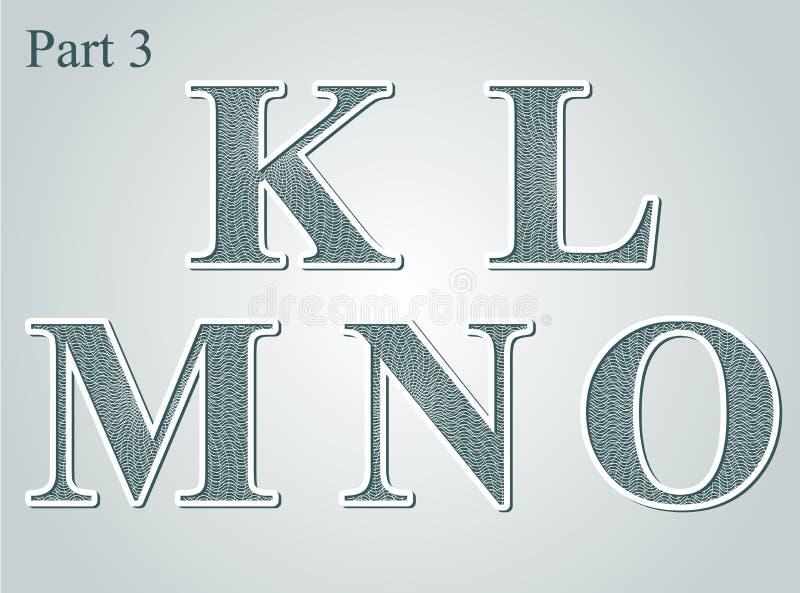 El guilloquis letra K L M N O