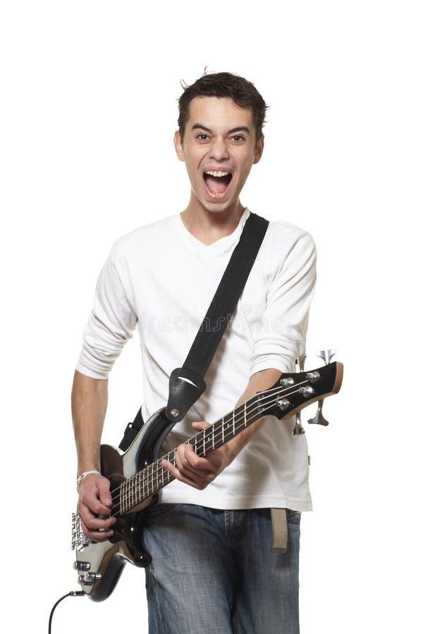 El guitarrista. fotos de archivo