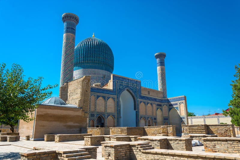 El Gur-emir del mausoleo, Samarkand, Uzbekistán foto de archivo
