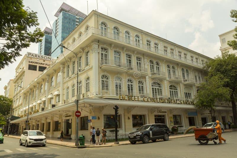 El HÃ'tel continental en Ho Chi Minh, Vietnam imágenes de archivo libres de regalías