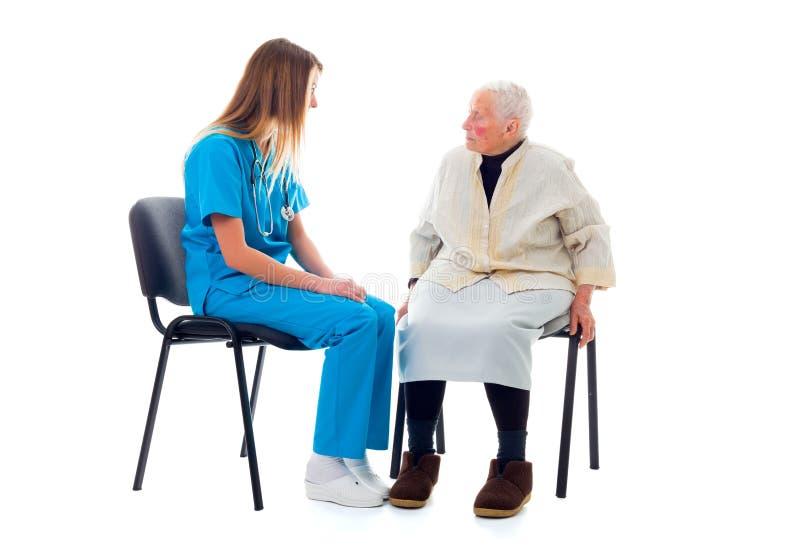 El hablar con su doctor del favourit foto de archivo