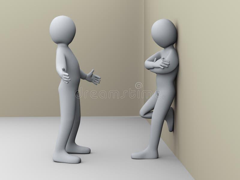 el hablar de la gente 3d ilustración del vector