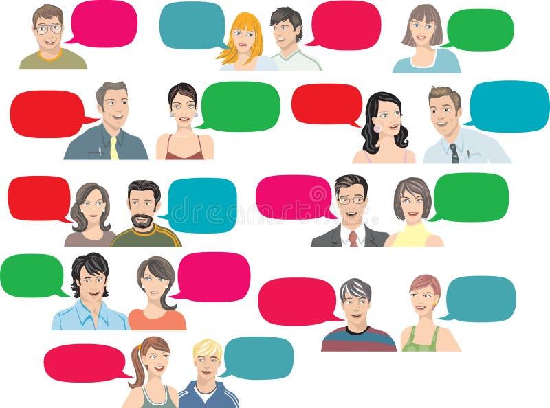 El hablar de la gente stock de ilustración