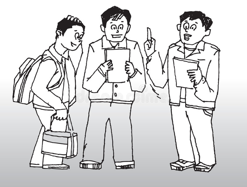 El hablar de los hombres libre illustration