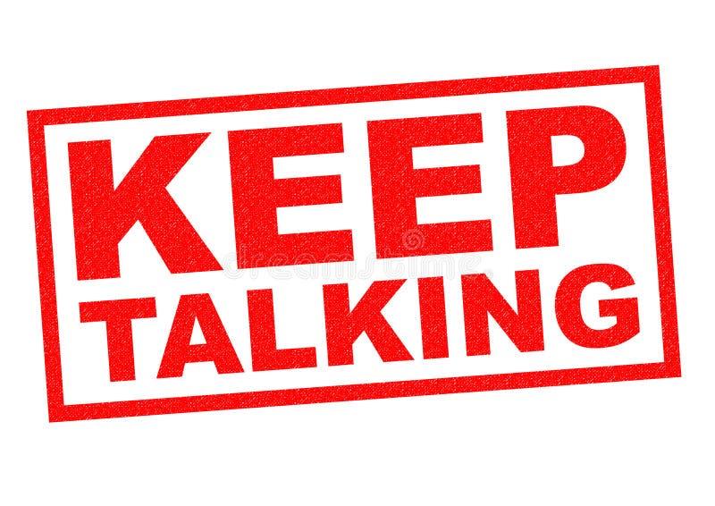 El hablar Keep ilustración del vector