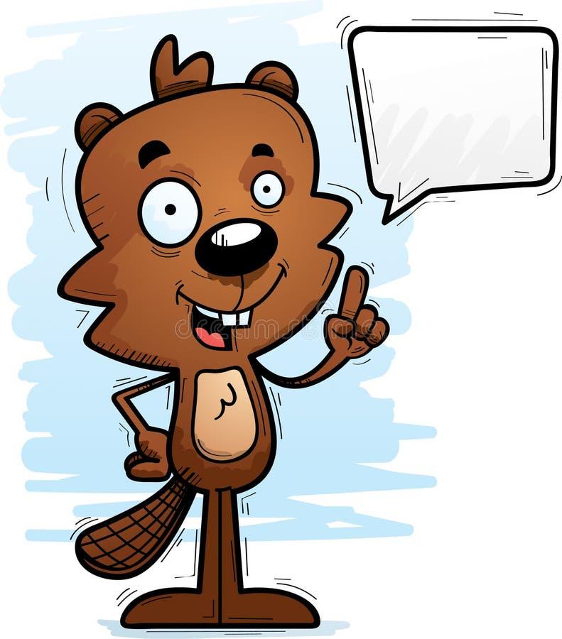 El hablar masculino del castor de la historieta stock de ilustración
