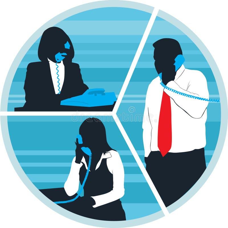 El hablar por el teléfono stock de ilustración