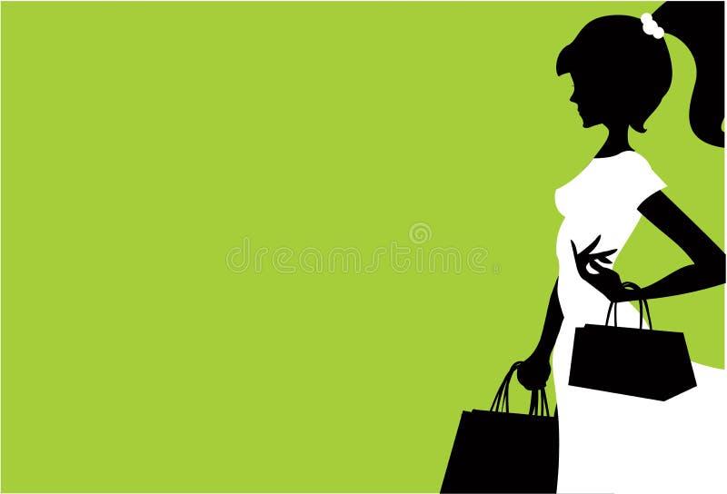 El hacer compras de las mujeres ilustración del vector