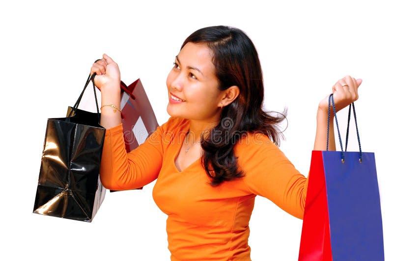 El hacer compras de las mujeres foto de archivo libre de regalías