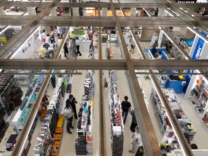 El hacer compras en el cuadrado de Sim Lim imágenes de archivo libres de regalías