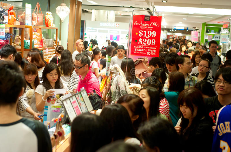 El hacer compras en Hong-Kong foto de archivo libre de regalías