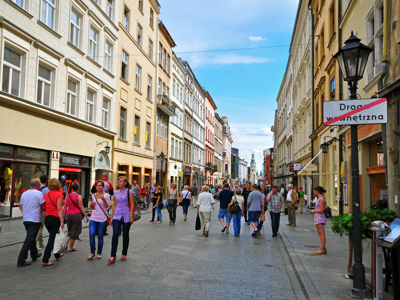 El hacer compras en Kraków foto de archivo libre de regalías