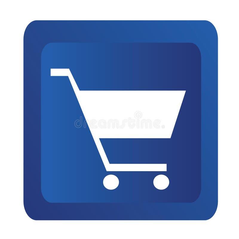 El hacer compras en línea ilustración del vector