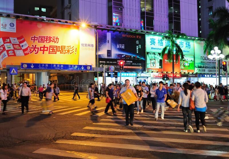 El hacer compras en Shenzhen foto de archivo libre de regalías